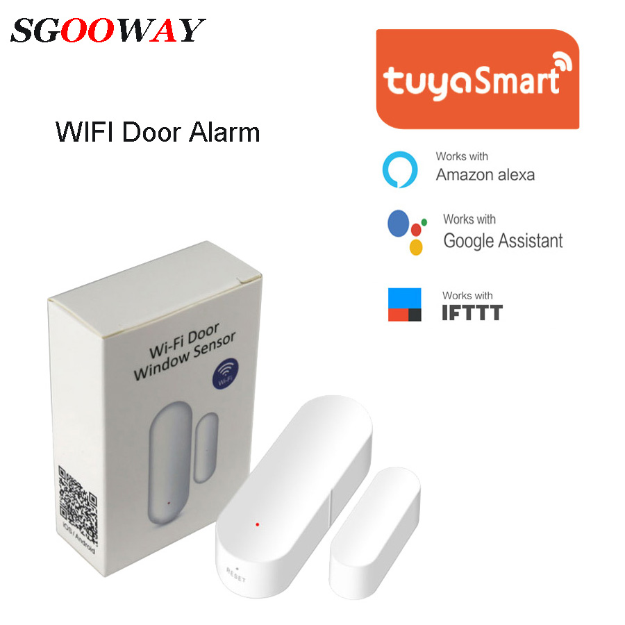 Sgooway Wifi Magnetic Sensor Automated Home Security Alarm System Is Easy To Install In Door Or Windows