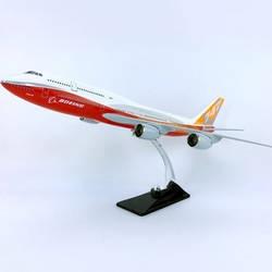 1/150 масштаб 45 см игрушечные модели самолетов Boeing B747-800 модель самолета литой под давлением пластиковый сплав самолет с основанием F дисплей