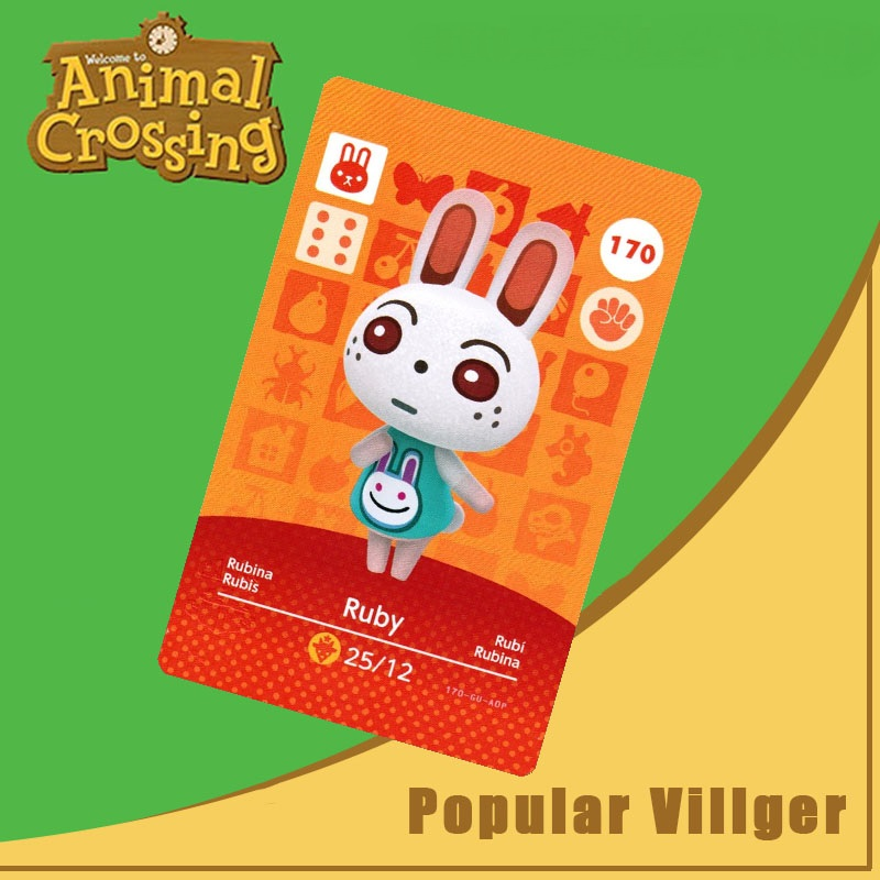 170 Animal Crossing Amiibo Card Ruby Amiibo Card Animal Crossing Series 2 Ruby Nfc Card Work For Ns Games Dropshipping