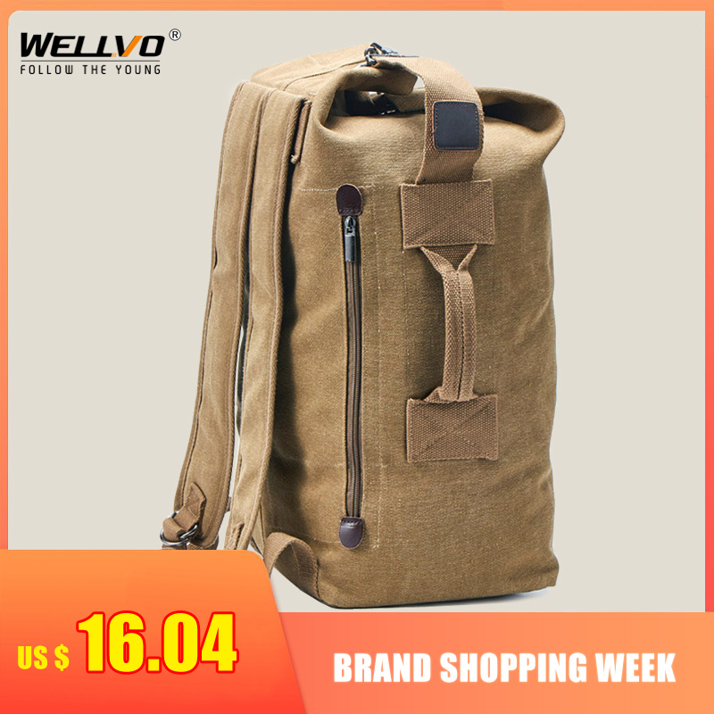 Backpack Male Luggage-Top Travel-Bag Canvas Mountaineering Large-Capacity Shoulder-Bags