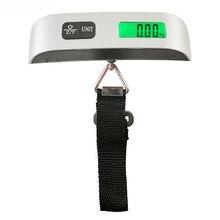 Портативный 50 кг/10 г висит электронные цифровые чемодан для путешествий весы светодиодный Дисплей Кухня аксессуары весы