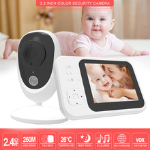 3.2 inch Wireless Video Baby Monitor with Camera Two-way Audio Nanny Baby Security Camera  Night Vision Temperature Detection