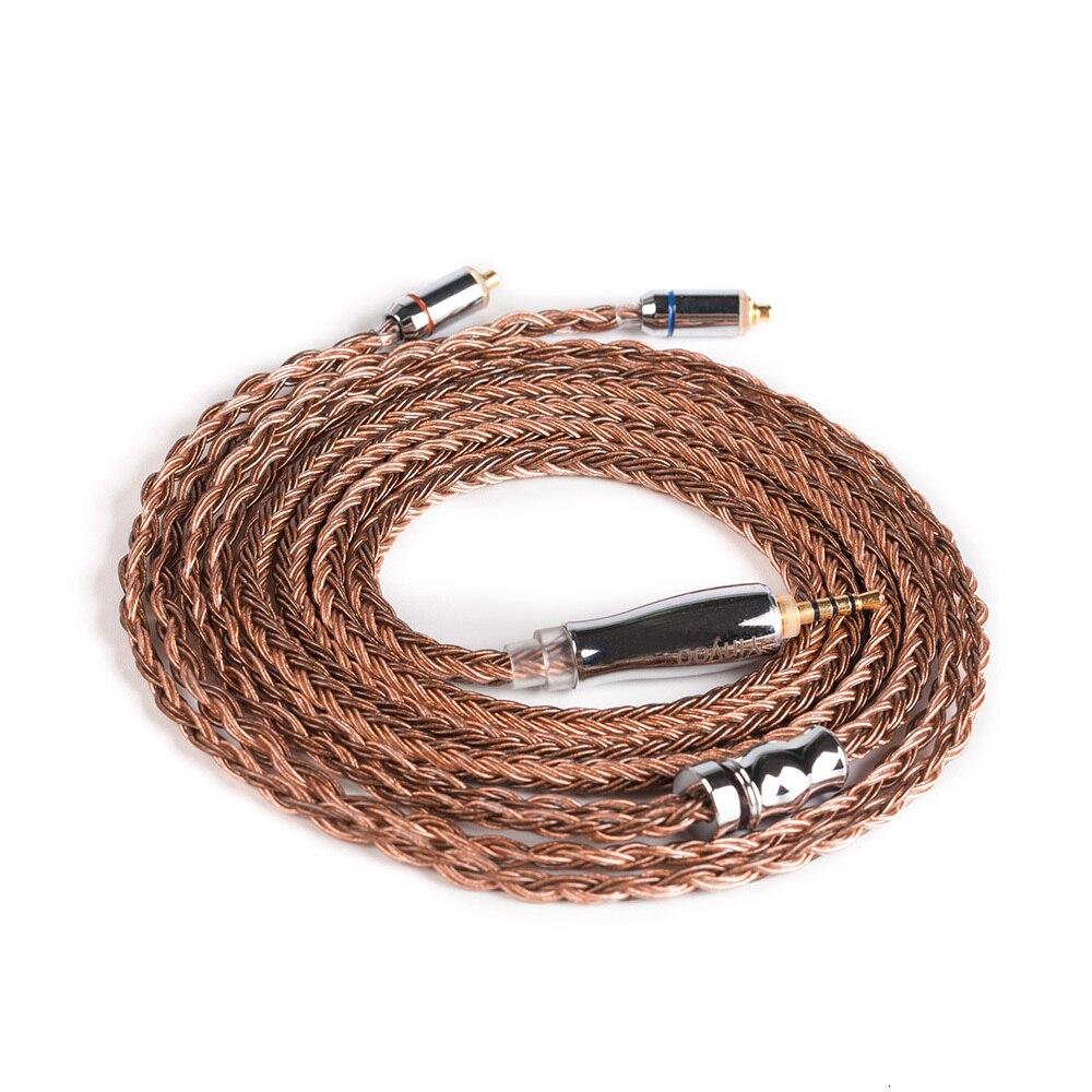 3.5 4.4mm equilibrado cabo com conector mmcx