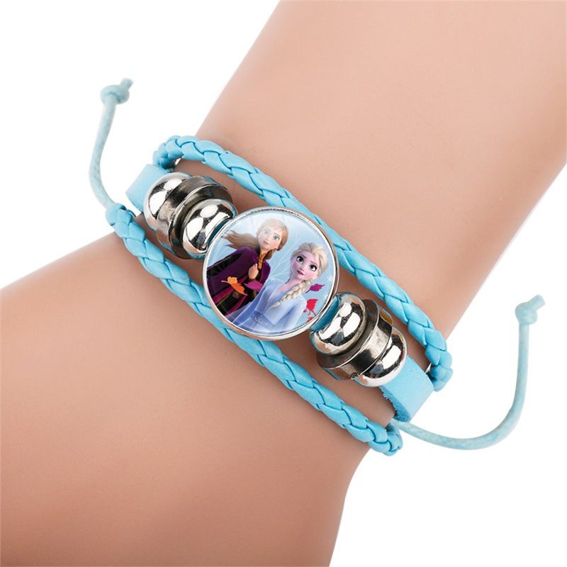 Princess 2 Girl Cartoon Bracelet Lovely Wrist Children Girl Gift Beading Toys Clothing Accessories Bangle Kid Make Up Jewelry