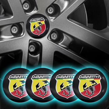 Car Accessories 4pcs 56mm Wheel hub center stickers Cap Wheel Badge Sticker cover LOGO for abarth- 500x 595 1100 Stilo Ducato image