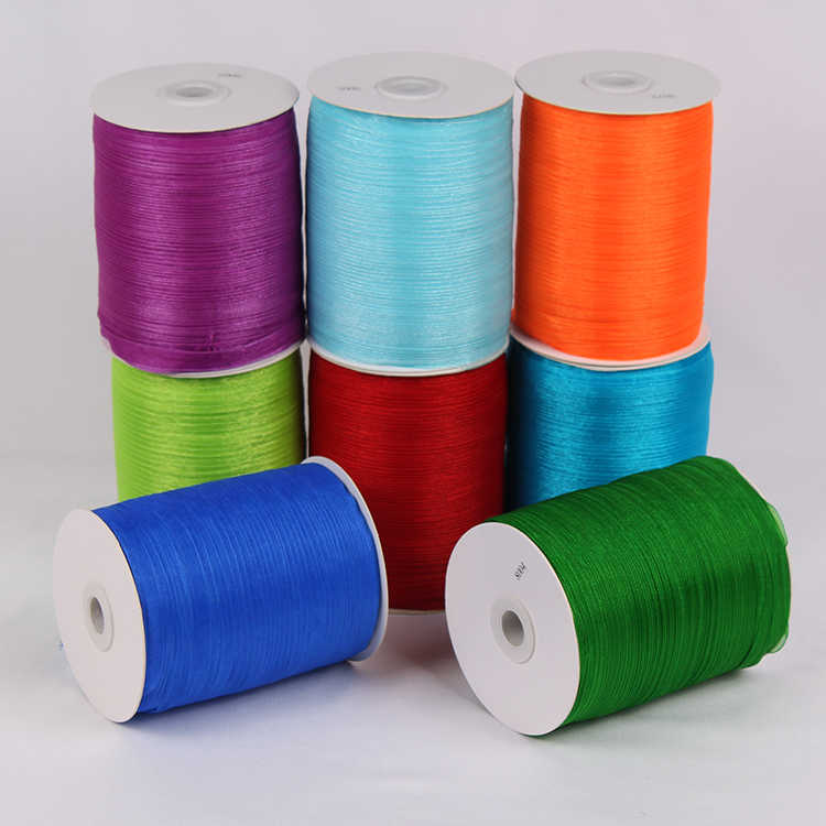 Chiffon 1cm Red wine Silk Organza Polyester Ribbon For Sewing Wedding  Decoration Webbing Crafts Gift Packing Belt (10 Meters)