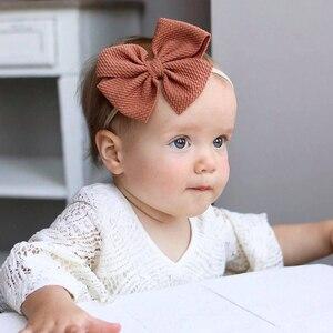 Image 3 - 30 sztuk mała kokardka z pałąkiem na głowę dziewczynek akcesoria do włosów rekwizyty fotograficzne piękny Pirincess prezent nylonowe włosy krawaty maluch BowKnot pasma włosów