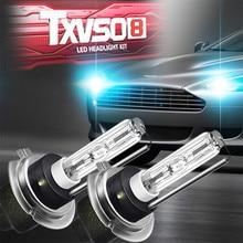 Ampoules au xénon Hid pour phares de voiture, lampes de remplacement, 6 couleurs de température, 55w H7, 2 pièces, # YL1