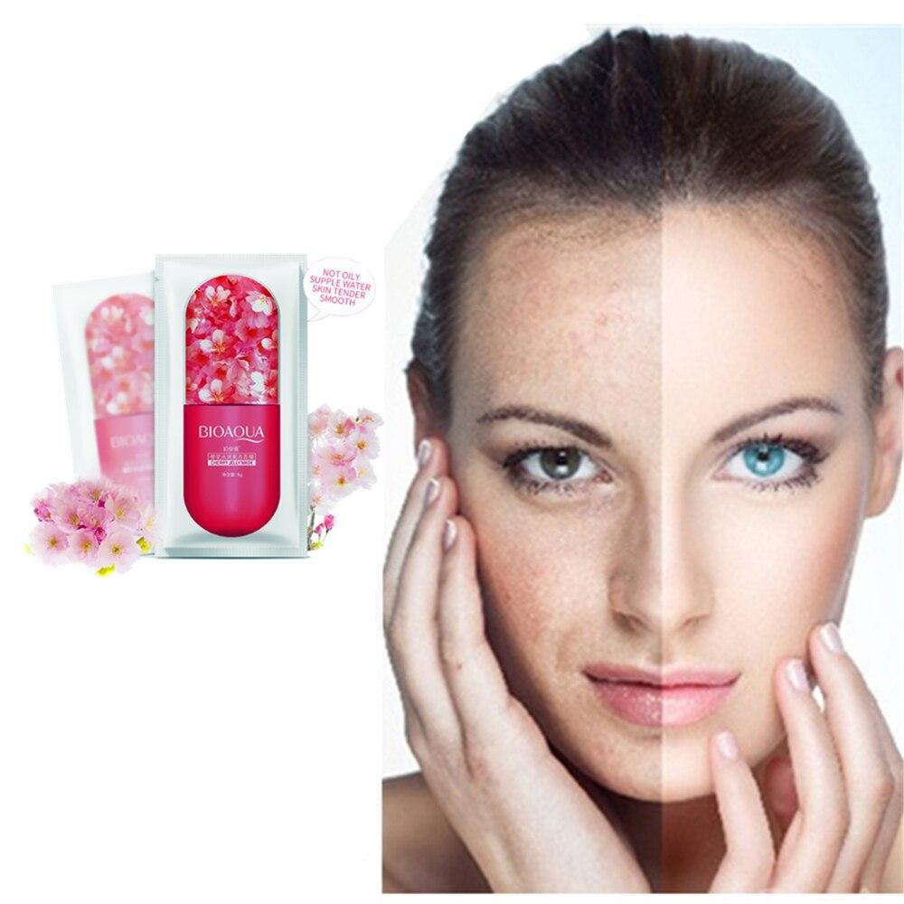 1 Pcs Acne Treatment Sakura Serum Face Pack Anti Acne Scar Removal Liquid Skin Care Whitening Repair Pimple Remover Face Masks