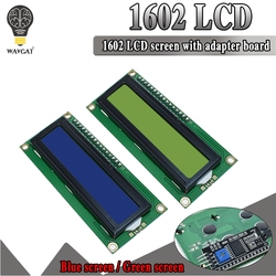 LCD1602 moduł LCD niebieski ekran IIC/I2C 1602 dla arduino 1602 LCD UNO r3 mega2560 tło green screen Moduły LCD Części elektroniczne i zaopatrzenie -