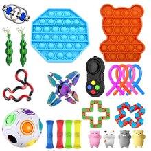 Непоседа сенсорные набор игрушек, игрушка для снятия стресса, игрушки аутизм, тревожность снятия стресса поп-пузырь Непоседа сенсорные игр...