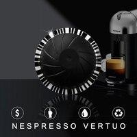 Wiederverwendbare Für Nespresso Vertuo Kaffee Kapsel mit Disposible Folien Dichtungen Stcker Große Tasse 230 ML Für Vertuoline