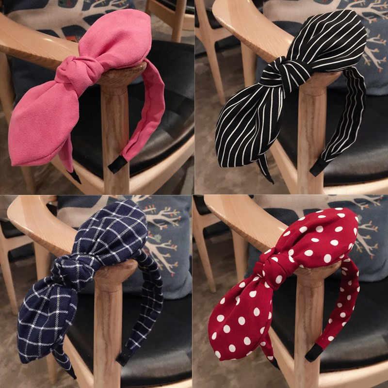 Mode Dame Stoff Big Band Haar Hoop Mädchen Bogen Verbreitert Stirnband Ornamente Stirnbänder Für Frauen Headwear Haar Zubehör