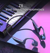 Original Z8 Bone Conduction Headphones Wireless Bluetooth 5.0 Sports Earphones Handsfree Foldable Waterpoof Earphone LED Light edal bone conduction headphones earphone wired noise reduction earphones hands free outdoor sports with microphone smart phone