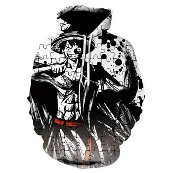 2020 High quality Cool Hoodies Men Women hot 3d Print One Piece Monkey D. Luffy Hoodie   Tops Tee Hot style sports shirt 1