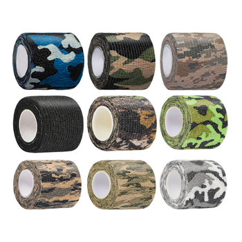 цена на Outdoor Self-adhesive Camo Tape Stretch Bandage Tactical Non-woven Protective Camouflage Wrap for Hunting Rifle Gun Flashlight