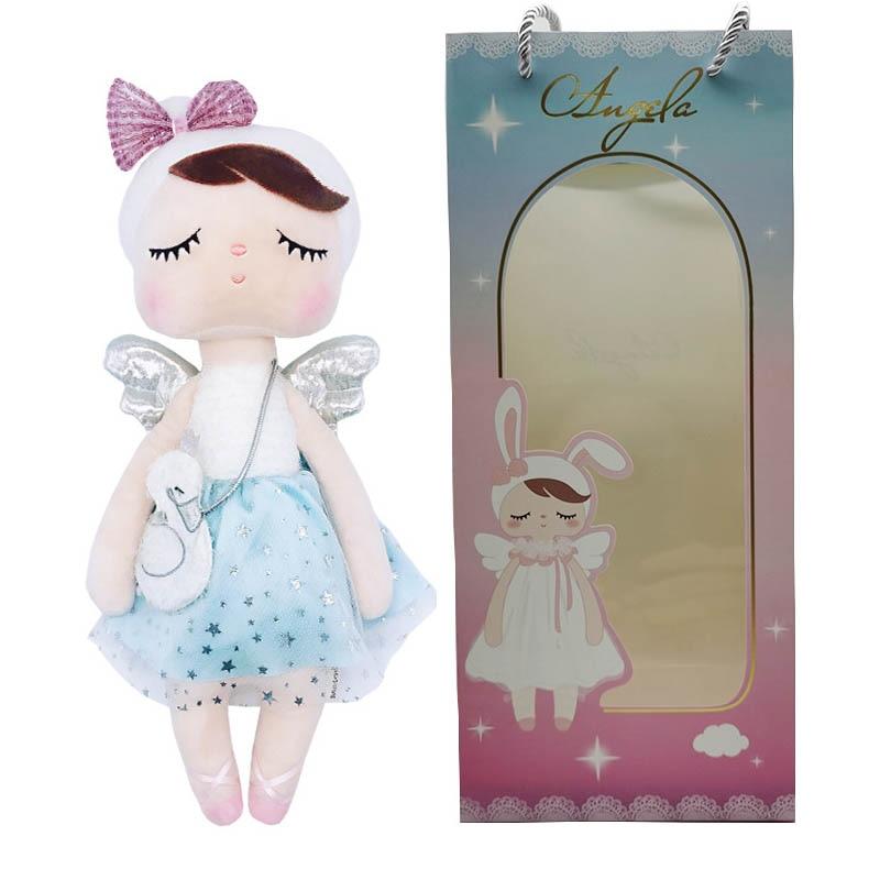 2020 NEW Cute Metoo Angel Angela Dolls Bunny Baby Kawaii Stuffed Toys For Kids Soft Plush Toy Christmas Birthday Gift With Bag