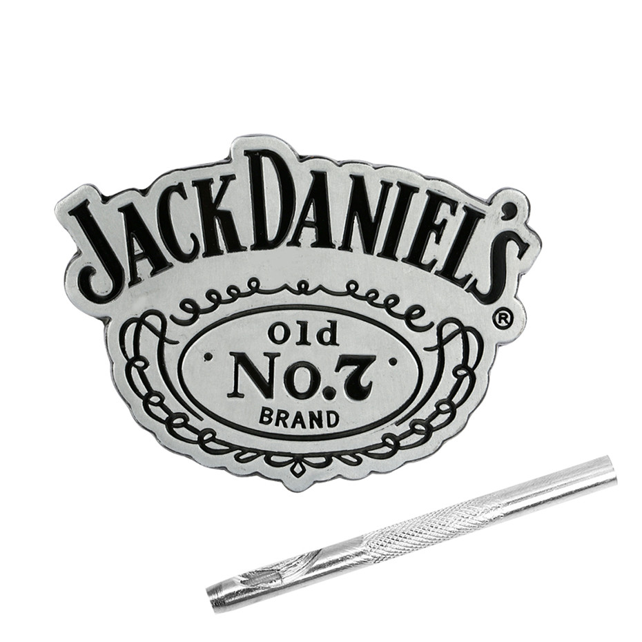 Punk Cool Jack Daniels Men's Belt Buckles Zinc Alloy Belt Buckle Hot Fashion Replacement Buckles For 4cm Belts