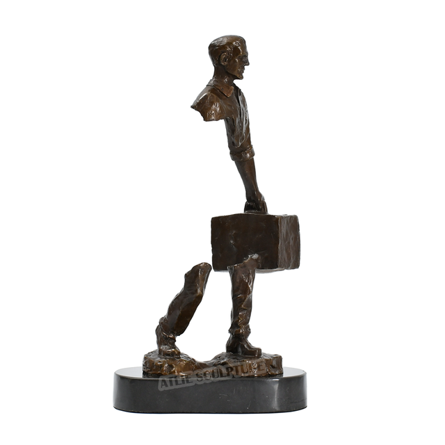Famous Bruno Catalano Bronze Traveller Statue Sculpture 4