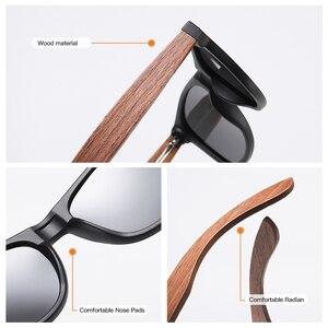 Image 5 - GM marka ceviz ahşap polarize erkek güneş gözlüğü kare çerçeve güneş gözlüğü kadın güneş gözlüğü erkek Oculos de sol Masculino S7061h