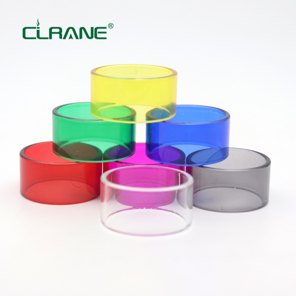 7PCS/pack Clrane Replacement Glass Tube For VGOD ELITE RDTA/Avocado 24 RDTA/VGOD RDTA(ships One Of Each Color )