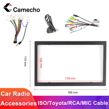 Camecho 2 Din Car Radio 100 MM Frame RCA ISO Mic Cable For Nissan Toyota Cable Car Multimedia Player Installation Accessories image