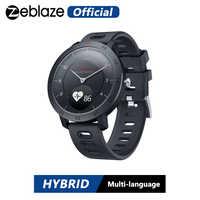 Nova zeblaze híbrido smartwatch freqüência cardíaca monitor de pressão arterial relógio inteligente exercício rastreamento sono inteligente notificações