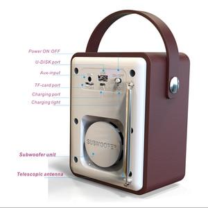 Image 4 - DAB الصوت FM استقبال MP3 الخشب ستيريو يدوي شاشة الكريستال السائل المحمولة قابلة للشحن لاعب USB ريترو بلوتوث راديو رقمي