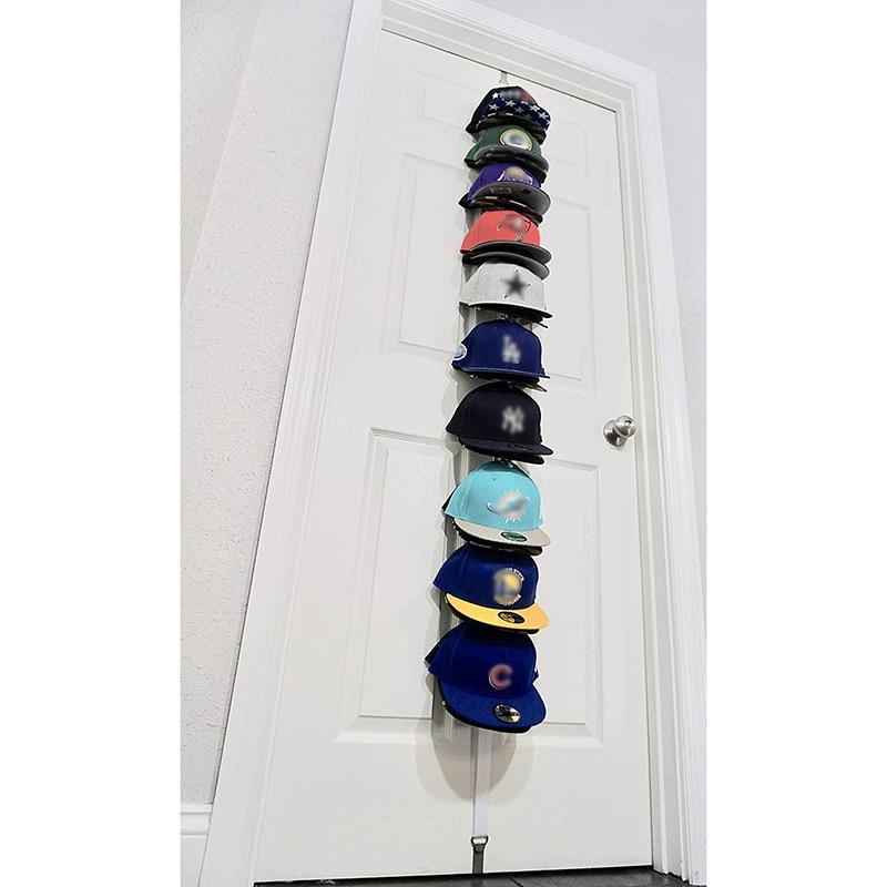 Household Bedroom Metal Door Hook Multipurpose Baseball Cap Holder Rack ClothesTowel Hook Storage Organizer Key Holder Wall in Hooks Rails from Home Garden