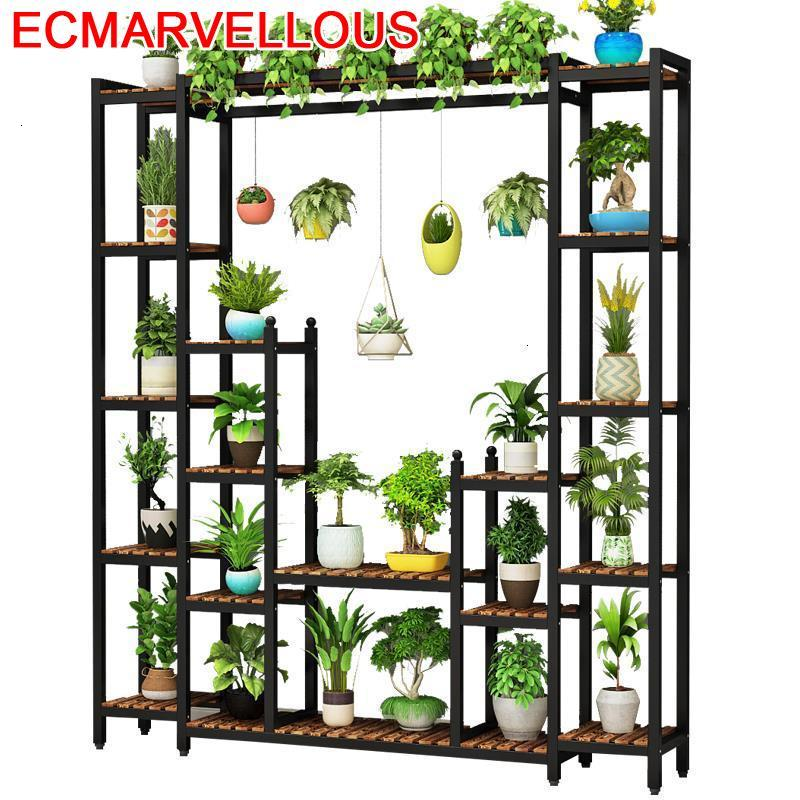Suporte Flores Table For Indoor Balkon Wood Soporte Plantas Interior Rak Bunga Rack Balcony Shelf Outdoor Flower Plant Stand
