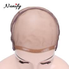 Nunify парик Кепка для изготовления париков полный швейцарский кружевной вентилирующий парик Кепка для наращивания волос волнистая шапочка s Hairnet U часть высшего качества