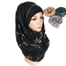 N8 10 шт. высокое качество лист цветок хлопковая вискоза хиджаб платок, женский шарф/платок-шарф повязка на голову мусульманский может выбрать oclors