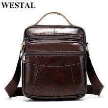 WESTAL sac à bandoulière en cuir pour hommes, sacoches 100% à rabat, sacs à main à rabat, sacoches 8318