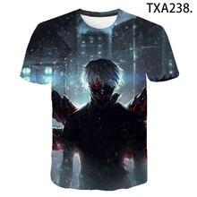 Летняя стильная футболка с аниме «tokyo ghoul» для мужчин и