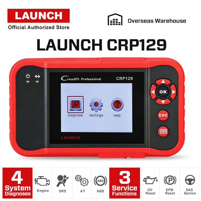 Image 2 - LAUNCH CRP129 OBD2 Scanner Auto Code Reader ABS Airbag Engine Transmission Diagnostic Scan Tool with EPB SAS Oil Resetlaunch creadercrp 129launch creader crp129 -