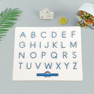 26 алфавитных цифр магнитная доска для рисования планшета коврик игрушка шарик магнит стилус ручка для письма доска для записей обучающая д...