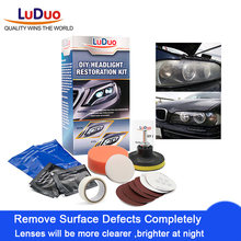 LuDuo DIY Headlight Polishing Restoration Kits Headlamp Clean Paste Systems Car Care Wash Head Lamp Brightener Repair Paint Care(China)