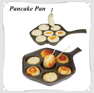 Stuffedpancake-Pan Griddle Cast-Iron Nonstick for Various Spherical-Food House Munk/aebleskiver