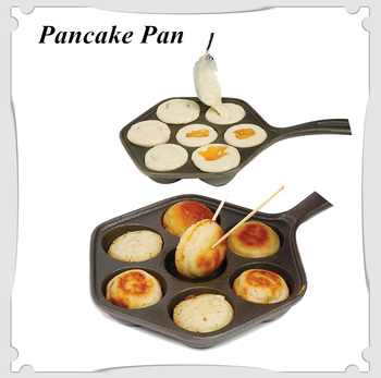 Cast Iron Stuffed Nonstick StuffedPancake Pan,Munk/Aebleskiver,House Cast Iron Griddle for Various Spherical Food
