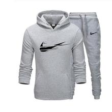 2020 Brand New Men Sets Fashion Autumn winter Sporting Suit Hoodies+Sweatpants+2 Pieces Slim Tracksuit clothing