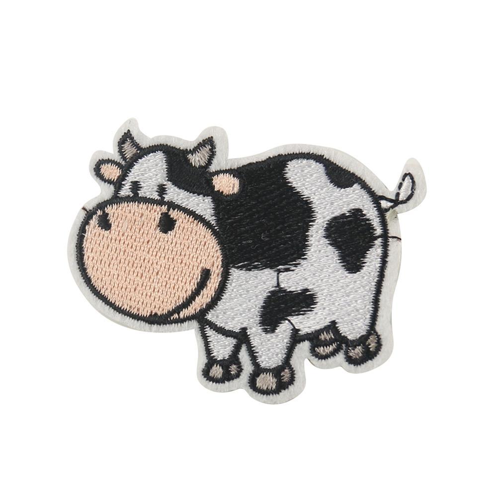 2/5 шт. Симпатичные нашивки с изображением фермы молочной коровы Мультяшные Животные вышивка для рюкзака одежды костюма Сумки шляпы Сделай С...