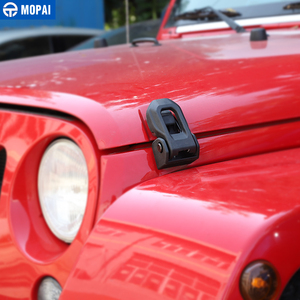 Image 2 - MOPAI Auto Motor Lock für Jeep Wrangler 2007 Up Auto Hood Latch Lock Fangen Abdeckung Schützen für Jeep Wrangler JK zubehör Styling
