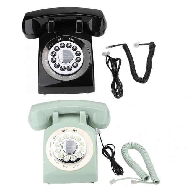 Telefono portableRetro Retro Stile Vintage Vecchio stile Telefono di Rete Fissa Telefono Scrivania porttelephone portatile Retro Telefono