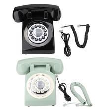 Teléfono portableRetro estilo Retro Vintage antiguo de moda Teléfono escritorio porttelephone portátil Retro teléfono