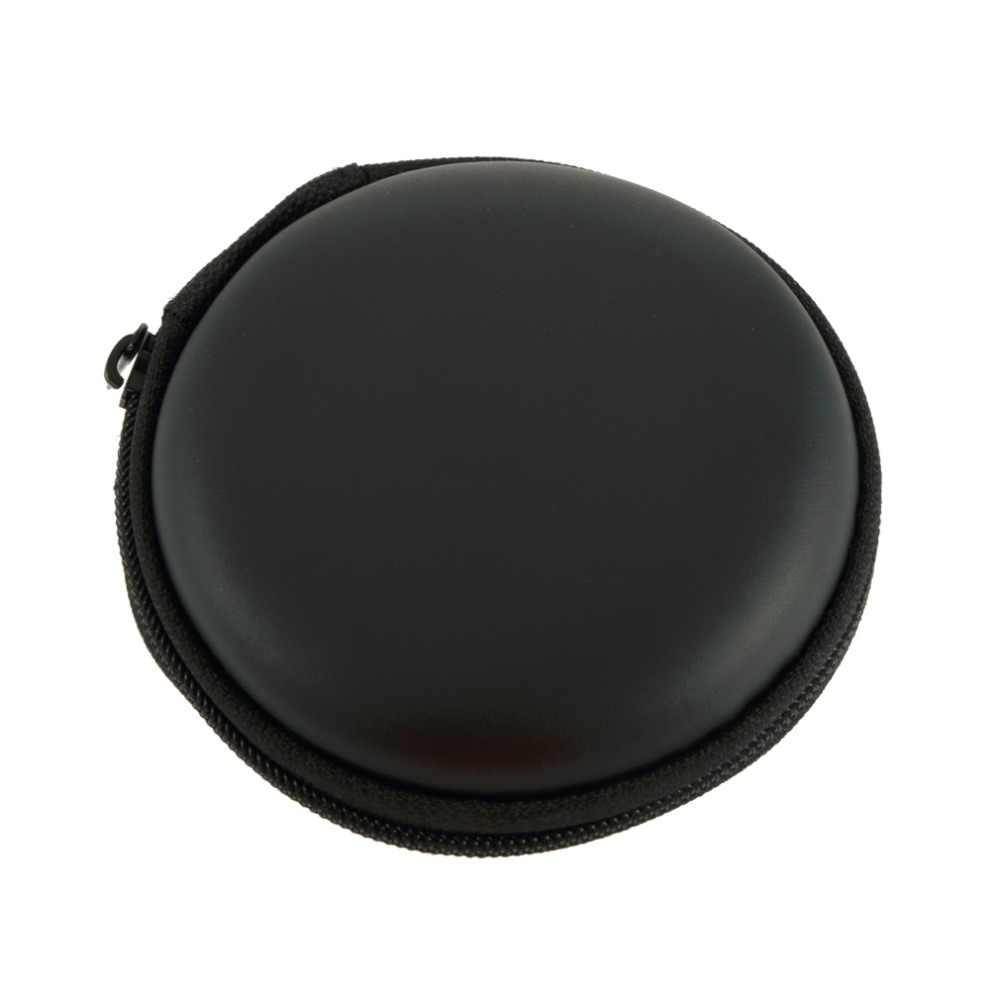 1 pc Durable EVA Black Portable Carrying Hard Holder Case Storage Bag for Earphone Headphone Memory Card for for Easy Travel