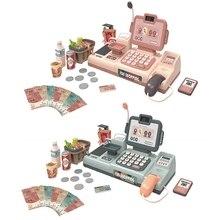 Toys Cash-Register-Kits Role-Play-Set Supermarket Kids Mini 25pcs Simulation Electronic