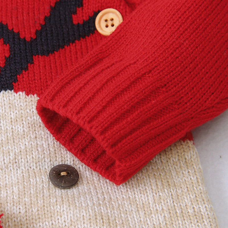 2020 Autumn Winter Newborn Baby Clothes Christmas Sweater Rompers Baby Girls Boys Overalls Infant Costume Kids Toddler Jumpsuit 4