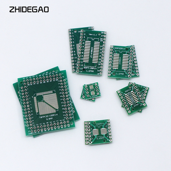 30pcs/6value*5pcs PCB Board Kit SMD Turn To DIP SOP MSOP SSOP TSSOP FQFP SOT23 8 10 14 16 20 24 28 SMT To DIP ka3842b ka3842 dip 8