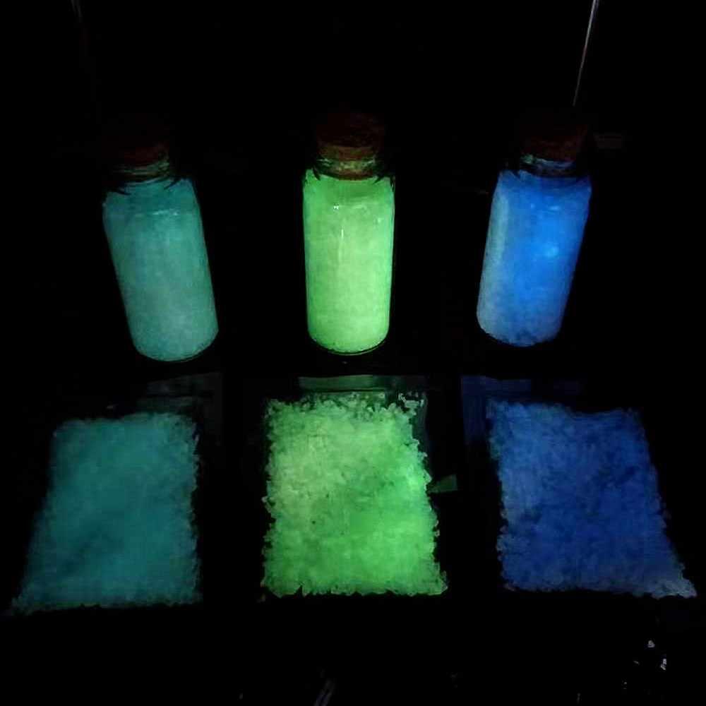 SUEF 1 Sacchetto Colorato Fluorescente di Incandescenza Particelle di Sabbia Glow Pigmento in Polvere Super-luminoso Glow in the Dark Casa Partito Decor @ 3