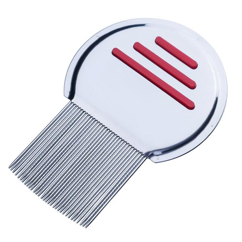 Лидер продаж, детский ограничитель волос из нержавеющей стали, расческа для вшей, без косточек, избавляющая от головы, супер плотность зубов, удаляет ниты, расческа инструменты для стайлинга - Цвет: red